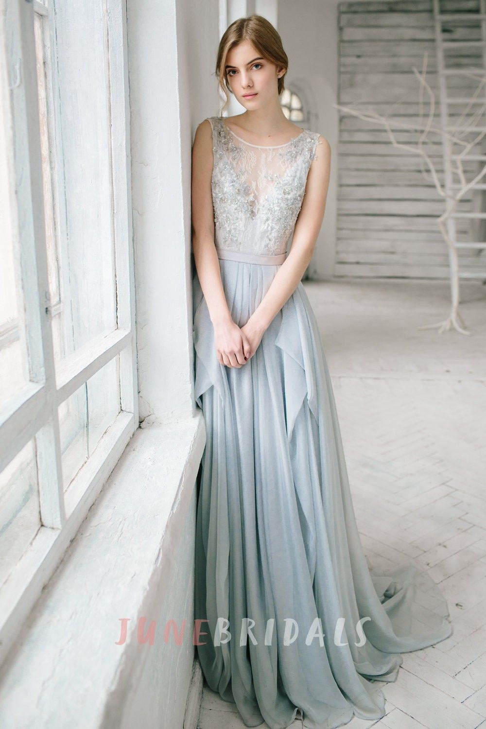 Sleeveless Floor-length Bridesmaid Dress With Lace And Beading ...