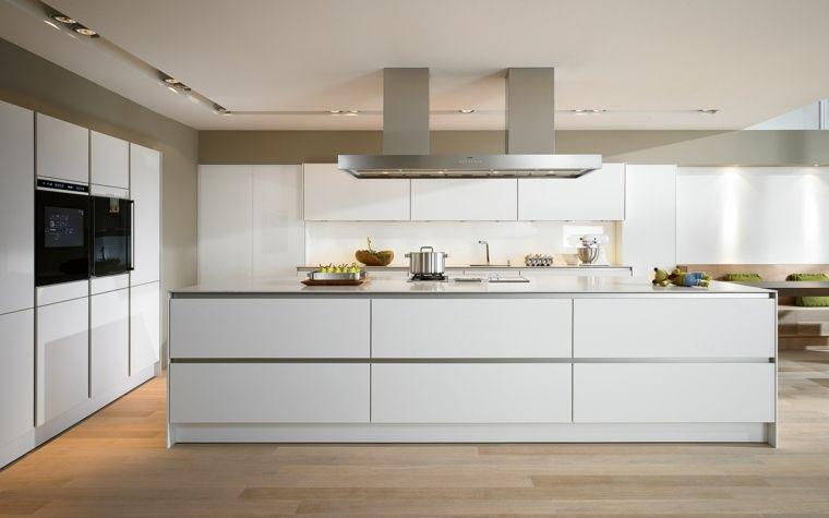 Cuisine blanche laquée 99 exemples modernes et élégants - joint pour plan de travail cuisine