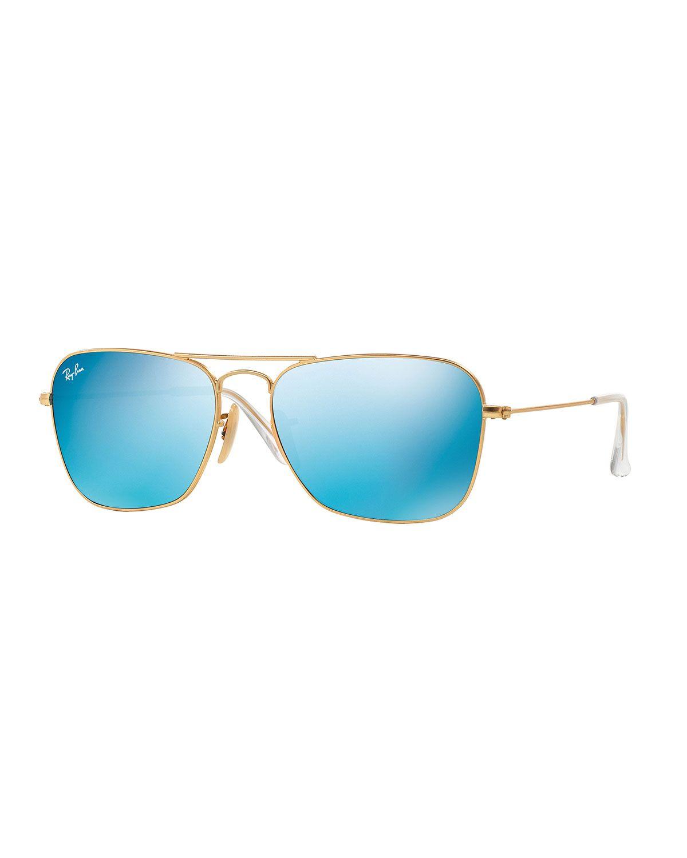 e7d56227d1 Square Ombre-Mirrored Aviator Sunglasses