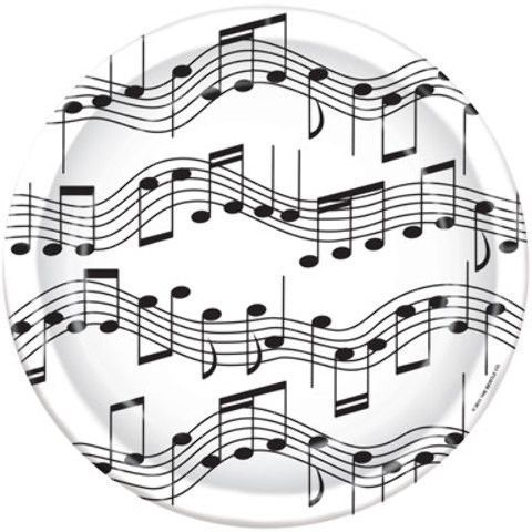 musical notes plates - style #13 Case of 12