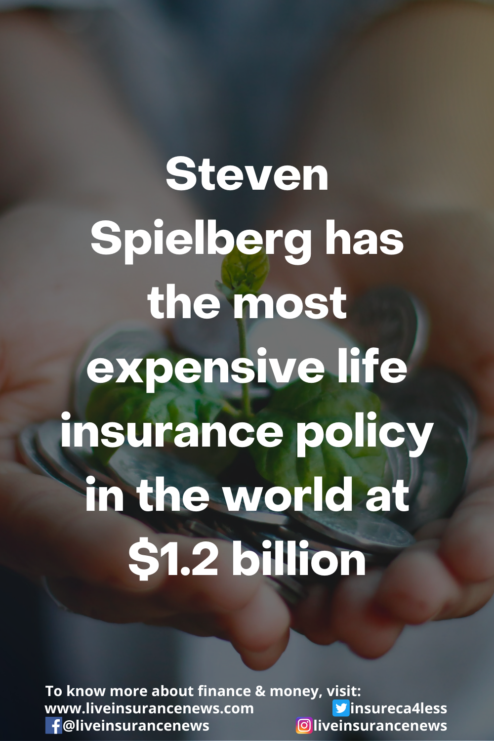 Steven Spielberg Has The Most Expensive Life Insurance Policy In The World At 1 2 Billion In 2021 Life Insurance Policy Insurance Finances Money