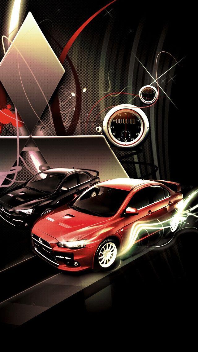 Mitsubishi Lancer Evolution Logo iPhone 5 Wallpaper. Find