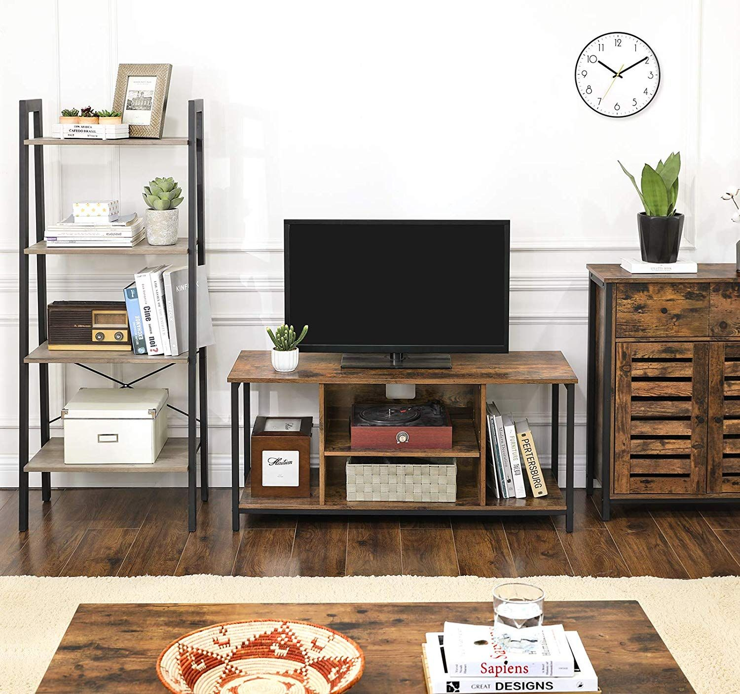 Alinru Tv Stand For Tvs Up To 48 Inches Tv Console Table Living Room Accent Tables Wooden Tv Console