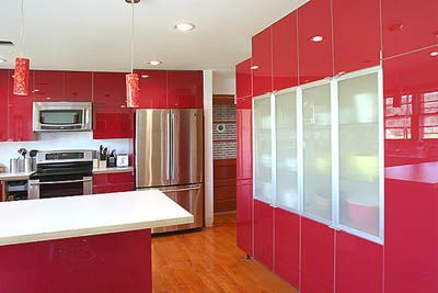 cocinas rojas a todo color red kitchen kitchens and kitchen