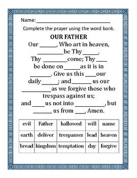 fill in the blank prayers education pinterest hail mary sunday school and catholic crafts. Black Bedroom Furniture Sets. Home Design Ideas