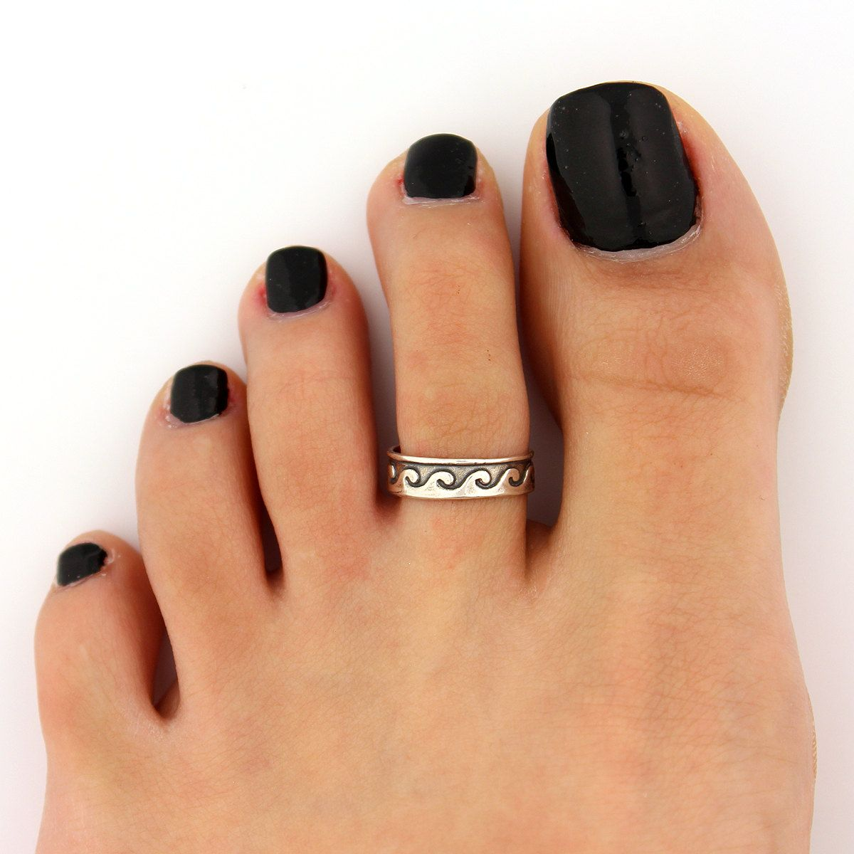 toe ring sterling silver toe ring Wave design by Silversmith925 ... 3f8b861ac196