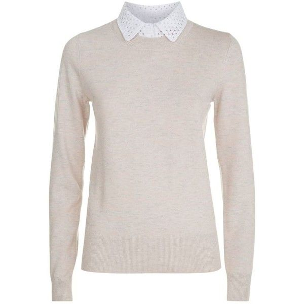 90458526 See by Chloé Lace Collar Sweater ($260) ❤ liked on Polyvore ...
