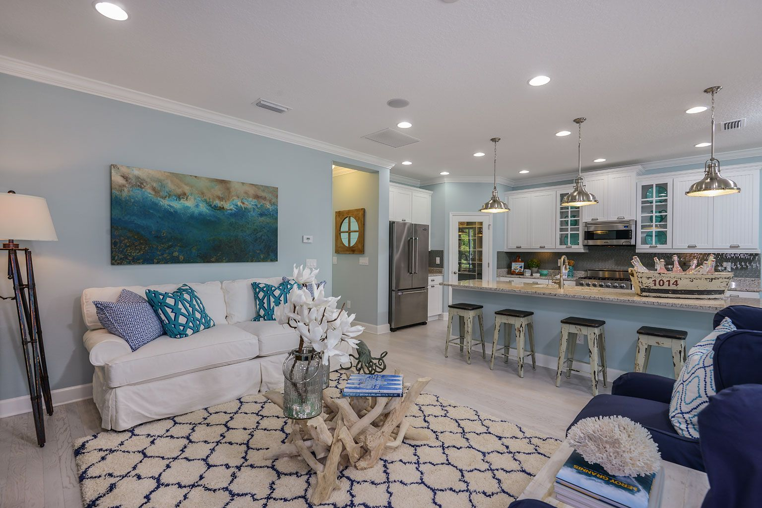 Coastal living model home