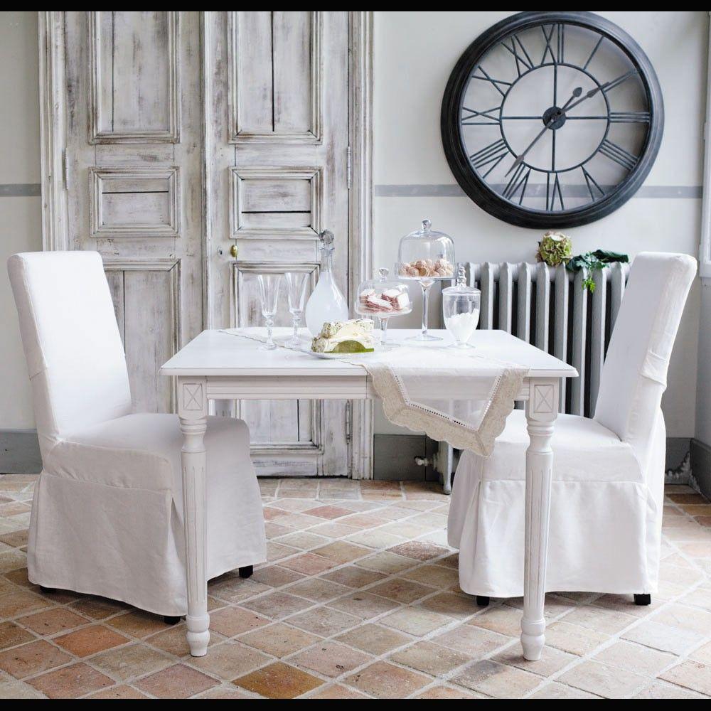 Tavolo Da Pranzo Quadrato Bianco Louis