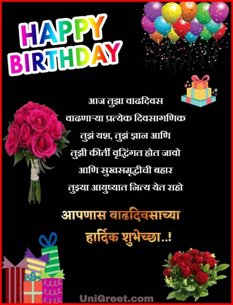 Latest Happy Birthday Marathi Images Wishes Status Pics