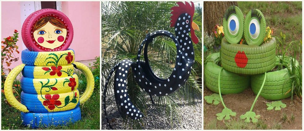 Originales y divertidas ideas para decorar con neum ticos for Decoracion con neumaticos