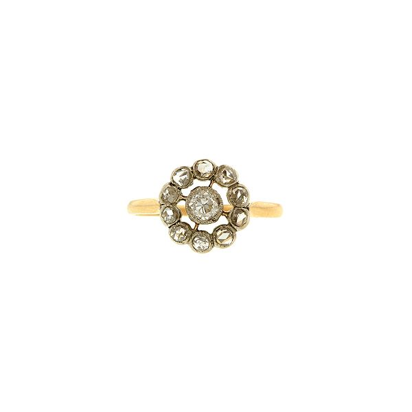 Doyle & Doyle | Ring: Antique Diamond Cluster Ring #vintage  #rustic