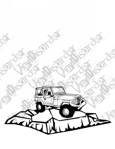 Jeep 4x4 4 X 4 Offroad Rock Climbing Vinyl Decal Car Window Stickers