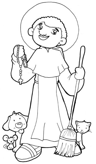 saint martin de porres catholic coloring page feast day november 3