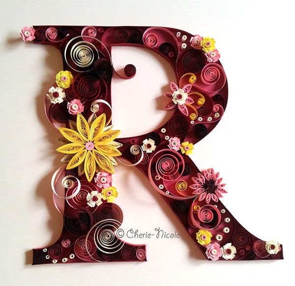 Quilled letter R   Personalised Quilling on Behance