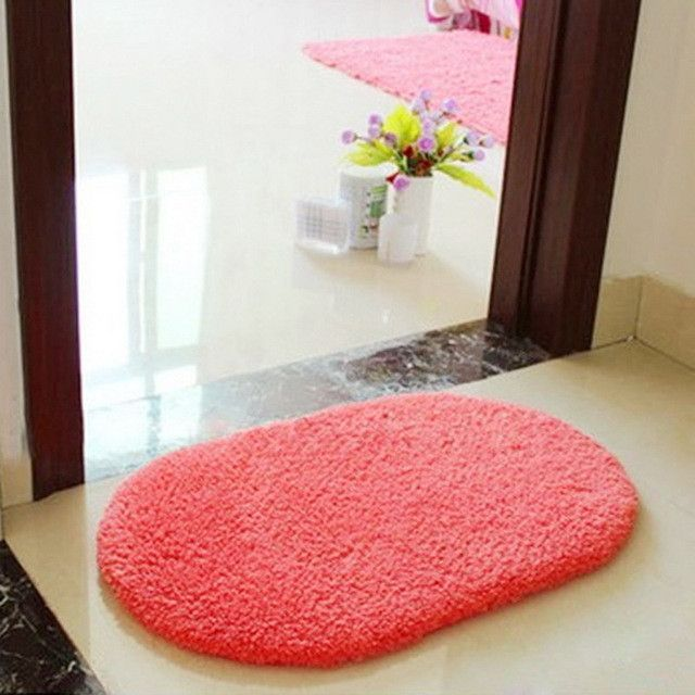 Floor Mat Bath Rug Non-slip Absorbent Soft Memory Foam Bathroom Shower Carpet