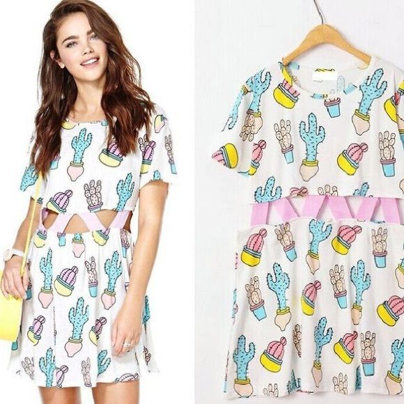 Lazy oaf cactus dress Authentic lazy oaf cactus dress. I will post pics of mine today! Never worn and in perfect condition. Some wrinkles from storage but they will come out of course :) size S/M which is the smallest size but it's OVERSIZED. I'm a 6-8 and fits great Lazy oaf Dresses Mini