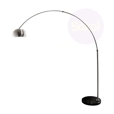 Replica Castiglioni Arco Lamp Circular Marble Base Lighting