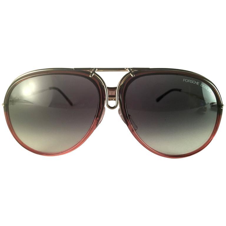d0f987018fc9 New Vintage Porsche Design By Carrera 5632 Gold Changeable Front Sunglasses  1980