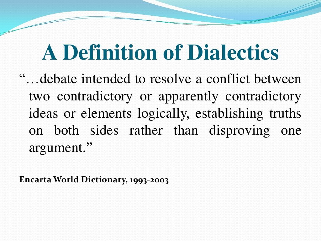 A Definition Of Dialectics Dbt