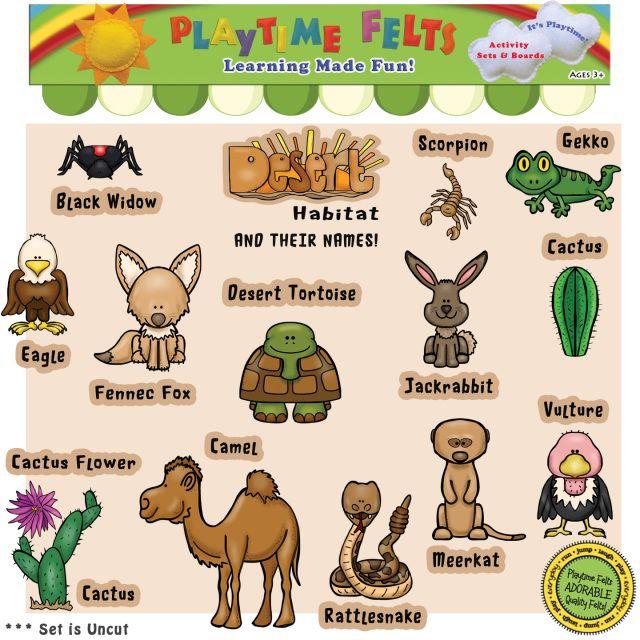 Desert Habitat Felt Figures for Flannel Board - Uncut ...