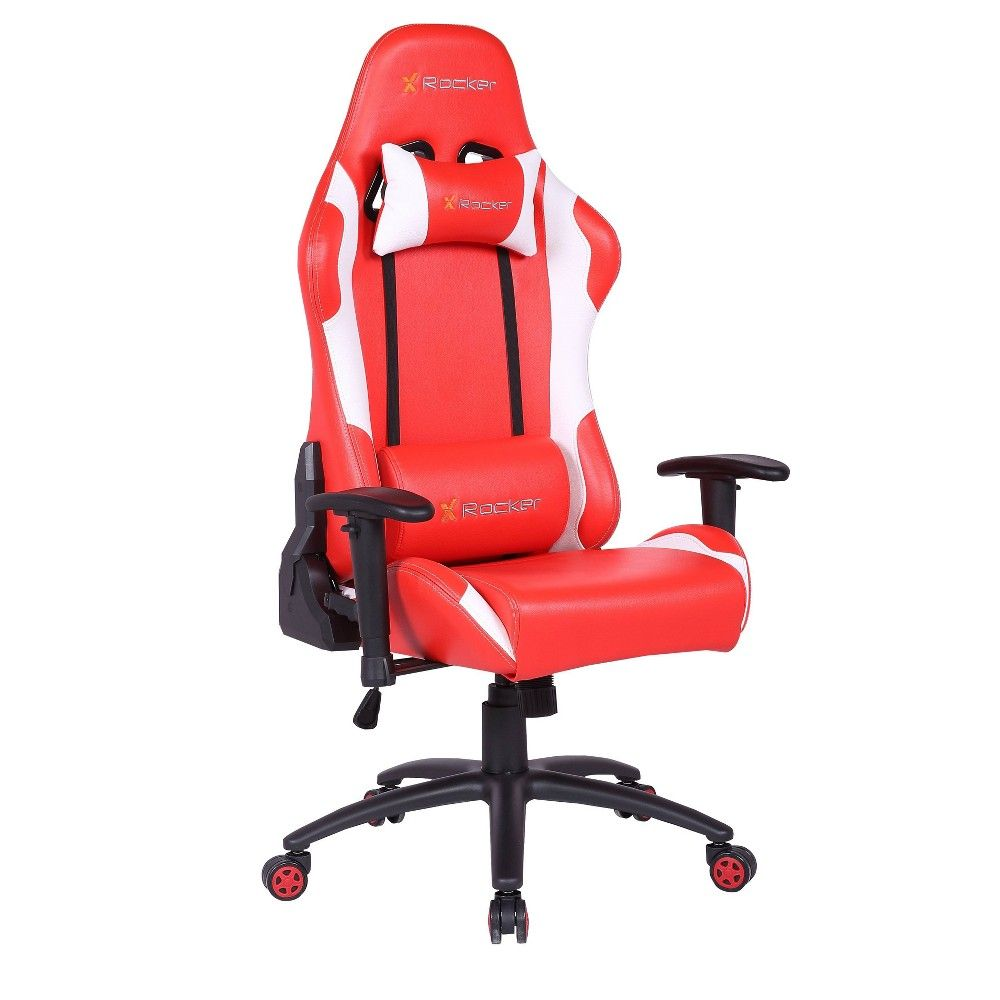 2d Agility Pc Gaming Chair Red Black X Rocker In 2020 Gaming Chair Pc Gaming Chair Office Gaming Chair