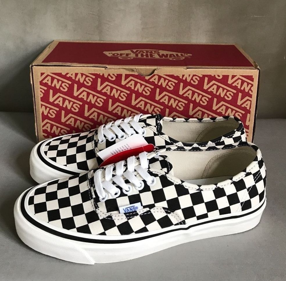 Vans Men Style 44 DX Black Check Limited Edition Anaheim Factory Sneakers  7.5  Vans  Style44DX 42b7bed06