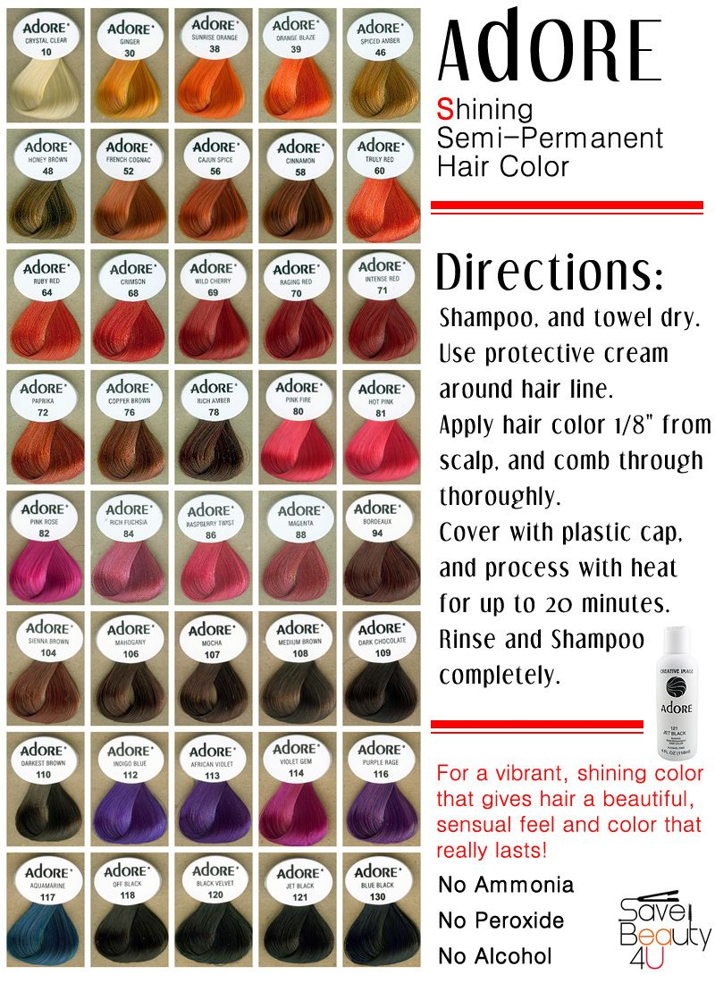 Adore Shining Semi Permanent Hair Color Alcohol Free Color 10 94 Semi Permanent Hair Color Hair Color Hair Dye Brands