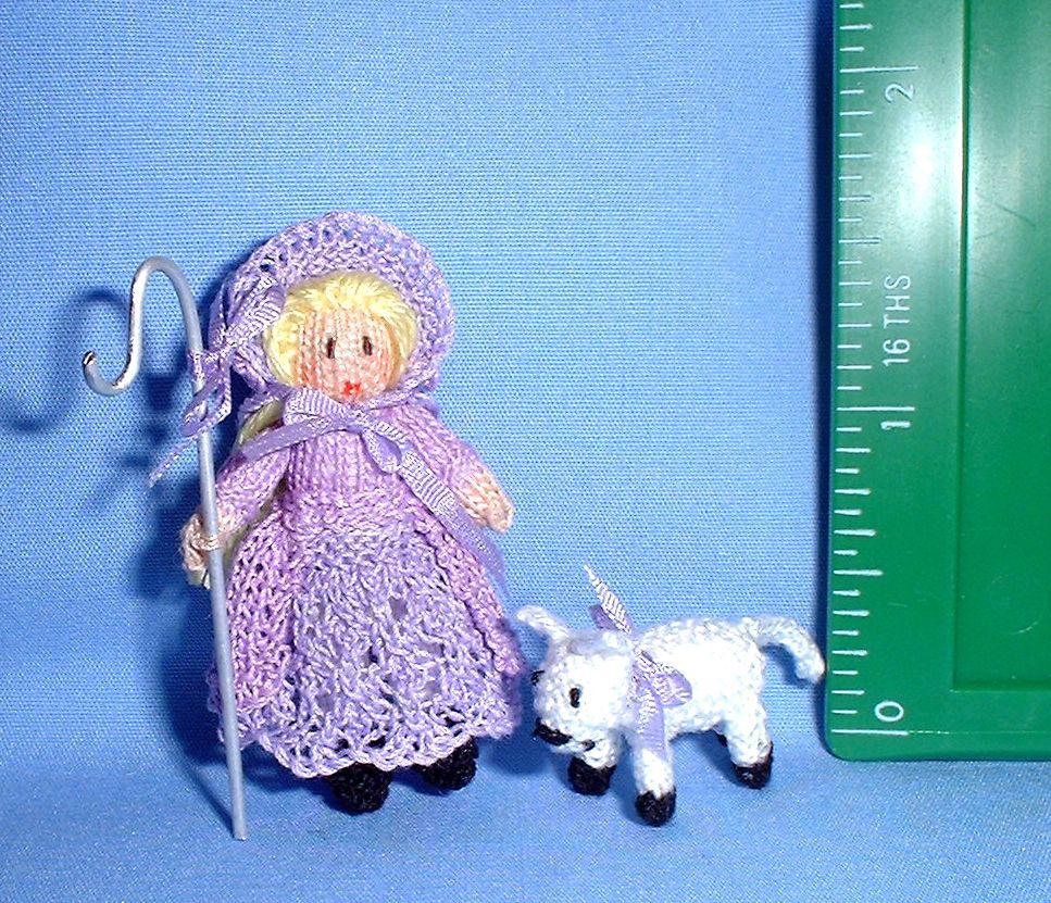 Bo Peep knitted by Jill Rothwell.