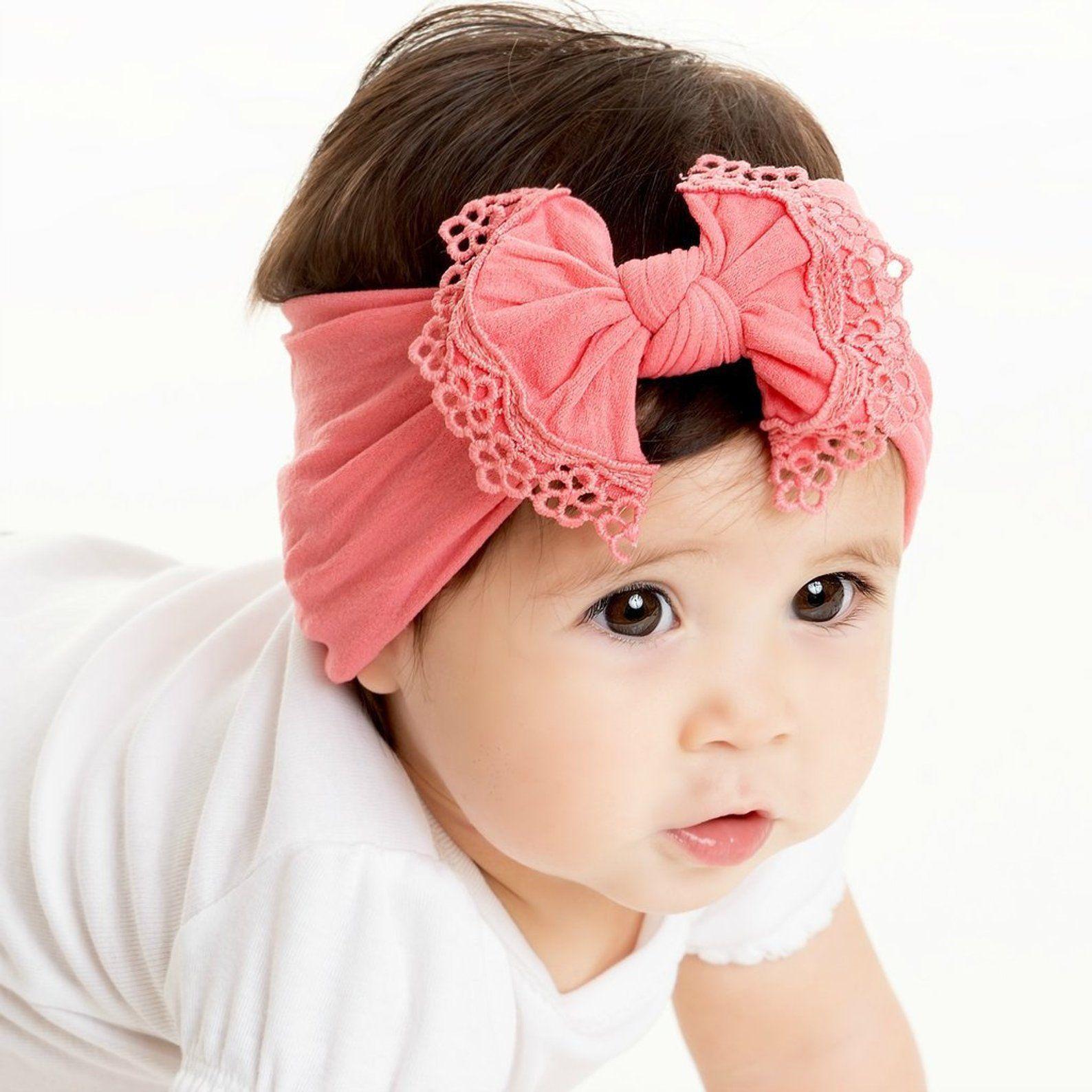 Choose Elastic Color girl headband baby head band bow Unicorn baby hair bow newborn headband infant headband Rainbow baby headband