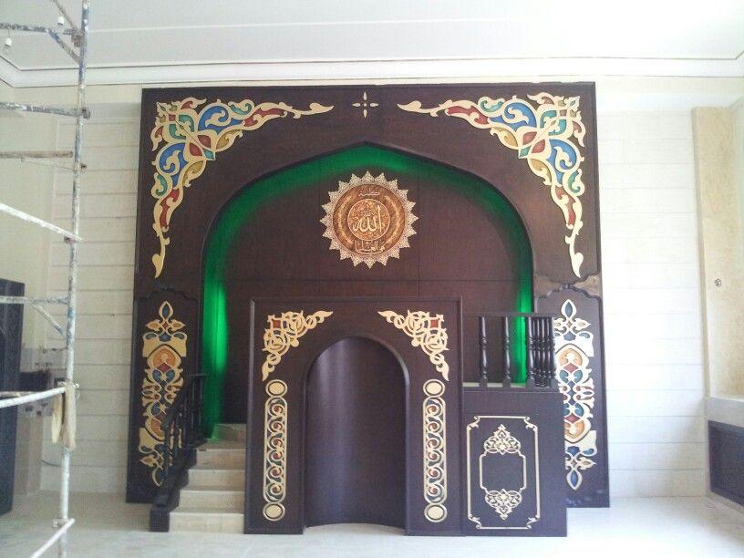 المحراب مسجد الجية Islamic Architecture Design Fireplace