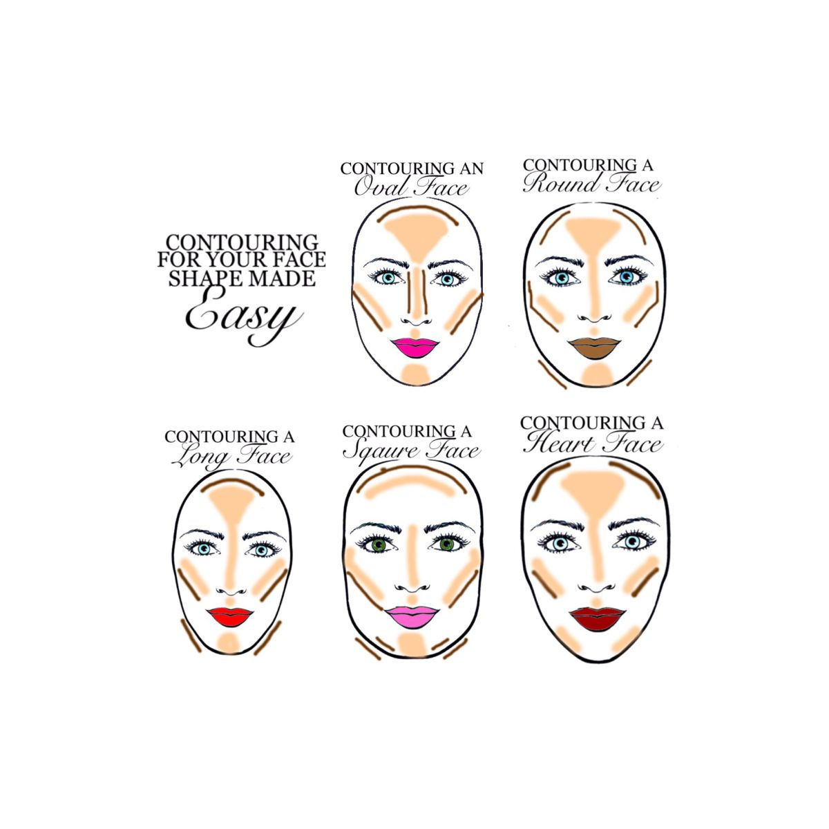 Contouring for your face shape made EASY!   Makeup   Face ...
