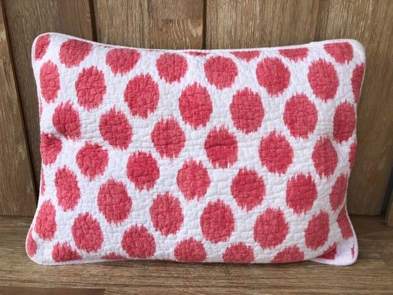 90s Cynthia Rowley Quilted Pillow Sham Watermelon Color Splotches On White Soft Cotton Fun Teen Gu In 2019 Products Quilted Pillow Shams Quilted Pillow
