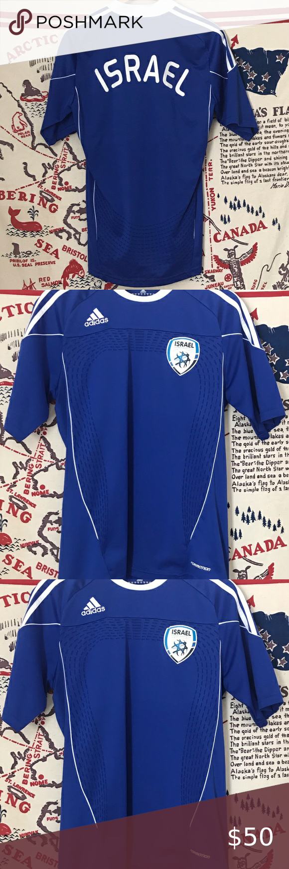 ISRAEL NATIONAL FOOTBALL TEAM KIT JERSEY SIZE M | National ...