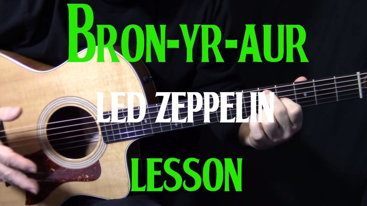 """lesson how to play """"BronYrAur"""" on acoustic guitar by"""