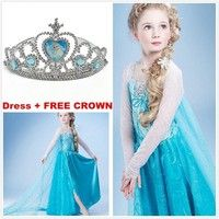 Wish | Movie Frozen Girls Princess Elsa Gown Kids Party Cosplay Full Costume Dresses 2-10T#04