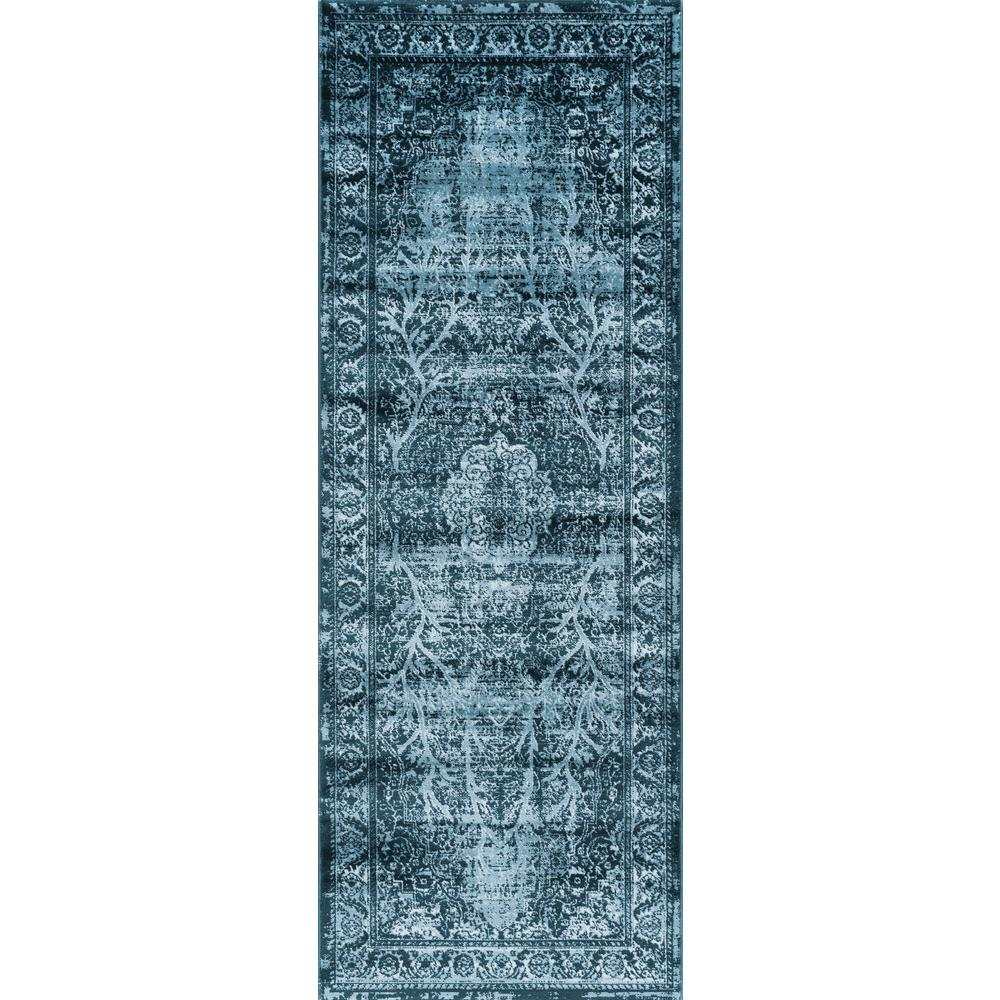 Tayse Rugs Concept Blue 3 Ft X 10 Ft Runner Cnc1003 3x10 The Home Depot Tayse Rugs Buying Carpet Carpet Runner