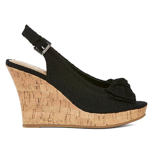 CL by Laundry Imagined Eyelet Peep-Toe Wedges - JCPenney