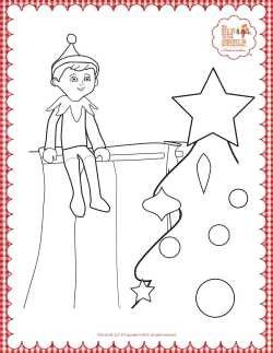 Elf On The Shelf Coloring Page Elf Fun Preschool Elves Christmas Elf