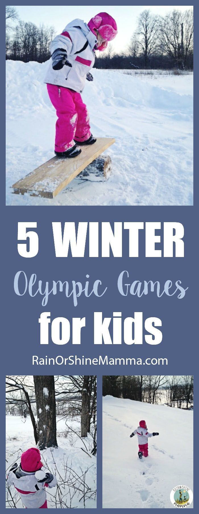 5 Fun Winter Olympic Games for Kids. Perfect outdoor activities for the backyard!  #olympics #olympic #games #kids #activities #backyard #winter #snow