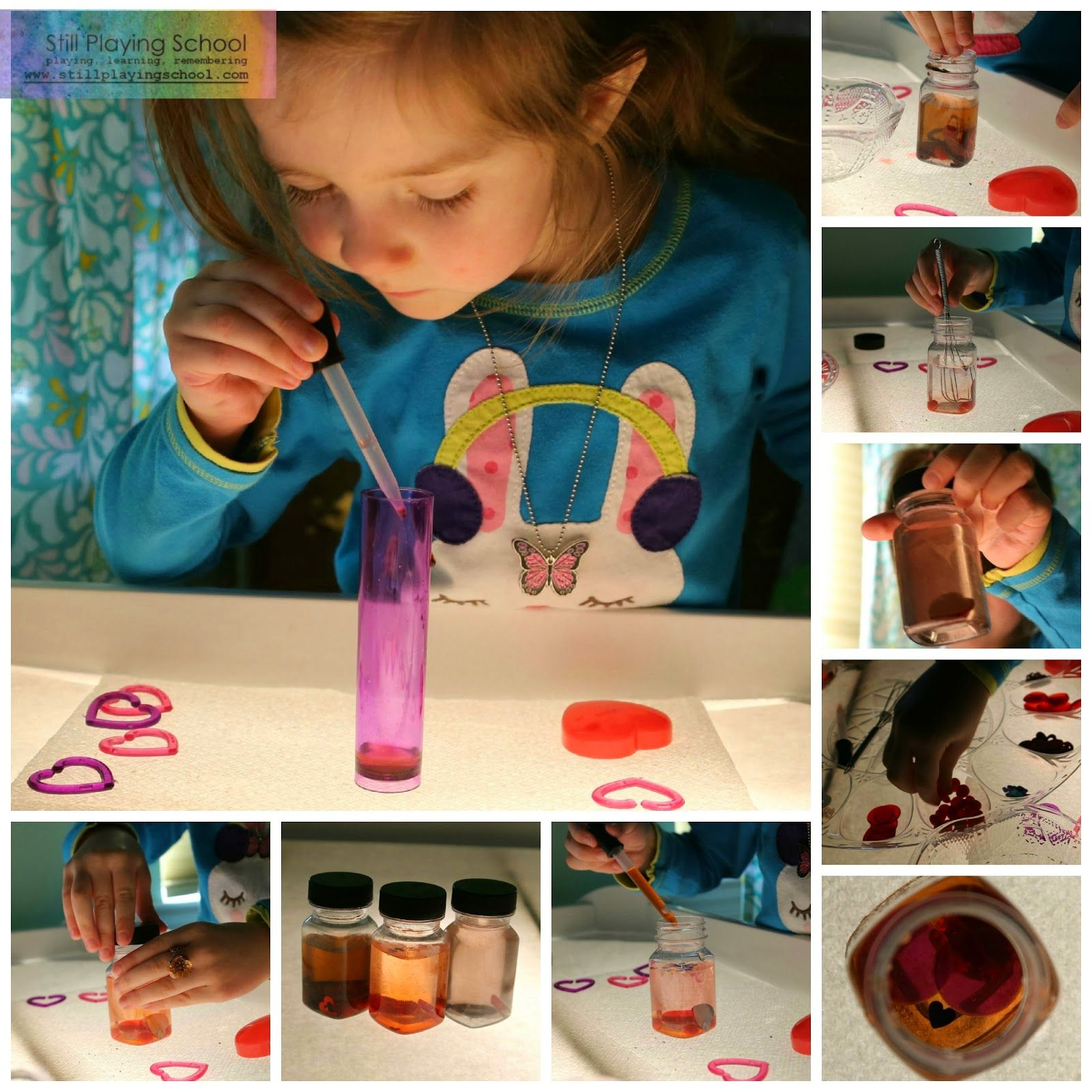 Still Playing School: Love Potions: Color Mixing on the Light Table