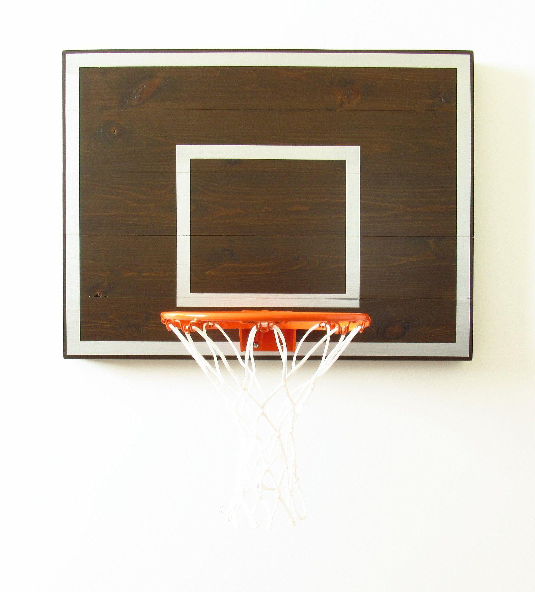 Mini Indoor Basketball Hoop / Sports Decor / Wall Mount