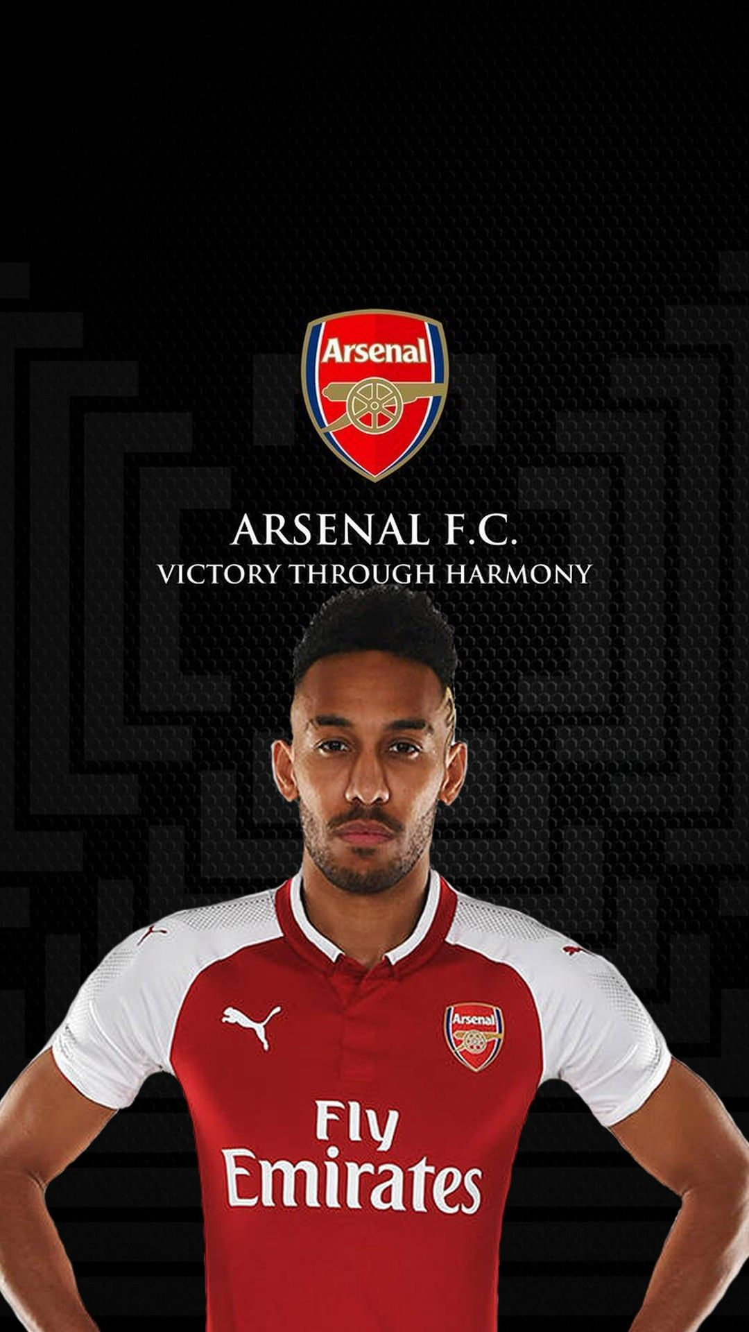 PhoneWallpaper Pierre Emerick Aubameyang Arsenal Wallpaper