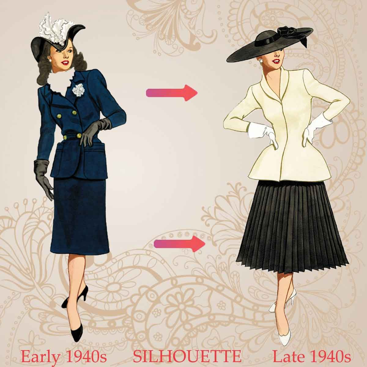 History of Womens Fashion - 1940 to 1949 | 1940s Fashion ...