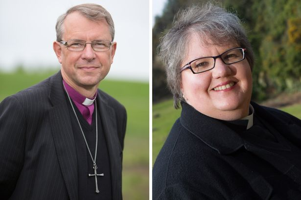 The Right Reverend PAul Butler, Bishop of Durham, and Reverend Canon Sue Pinngton -Ash Wednesday