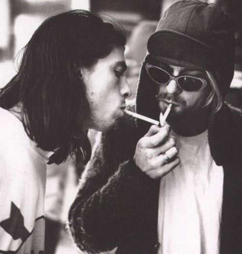 Kurt Cobain Smoking Kurt Cobain and Dave G...