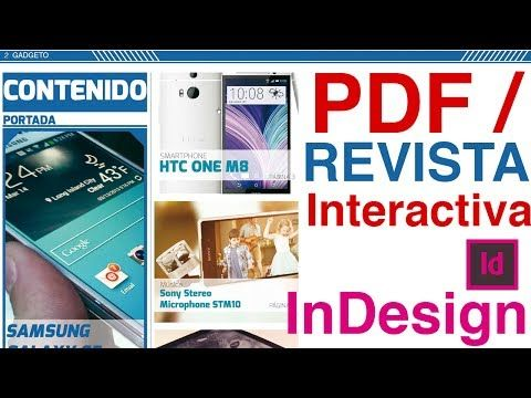 Indesign Crear Pdf Revista Interactiva Botones Hipervinculos Etc Revistas Interactivas Revistas Portadas