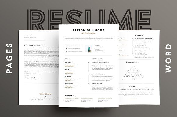 Unique Resume CV Pages + Word by GoaShape on @Graphicsauthor