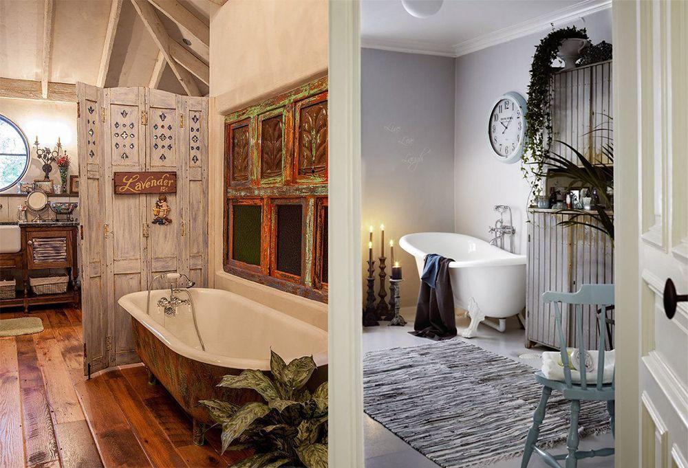Badezimmer Dekor Ideen: Verträumte Shabby Chic Badezimmer ...