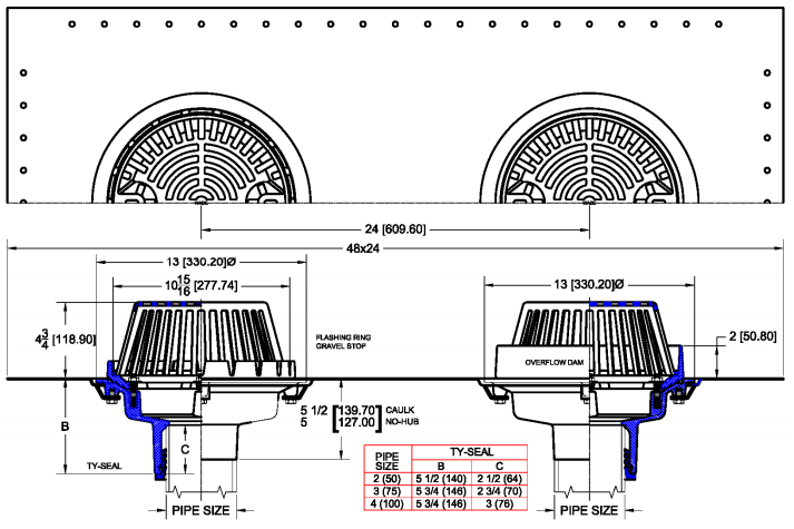 Overflow Roof Drain Detail In 2020 Roof Drain Roof Image House